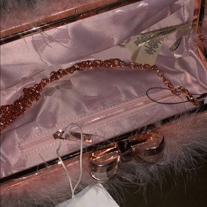 Ted Baker London Bags - Ted Baker pink feather clutch purse NWT